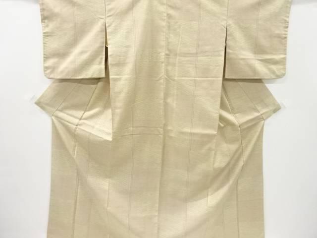 市松に青海波模様十日町紬付け下げ着物【リサイクル】【中古】【着】 宗sou