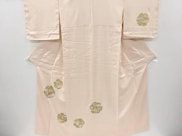 未使用品 仕立て上がり 金彩雪輪に椿模様刺繍訪問着【着】 宗sou