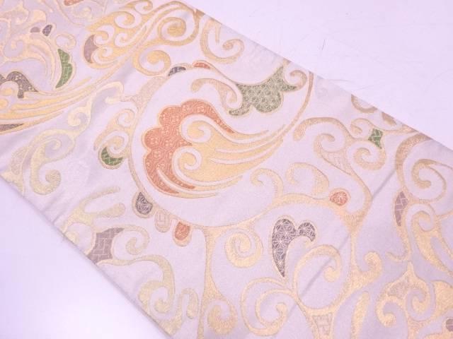 花唐草に古典柄模様織出し袋帯【リサイクル】【中古】【着】 宗sou