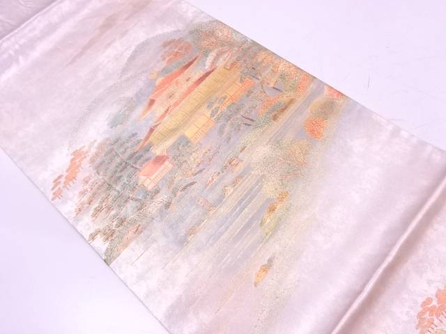 引箔金彩金閣寺模様袋帯【リサイクル】【中古】【着】 宗sou