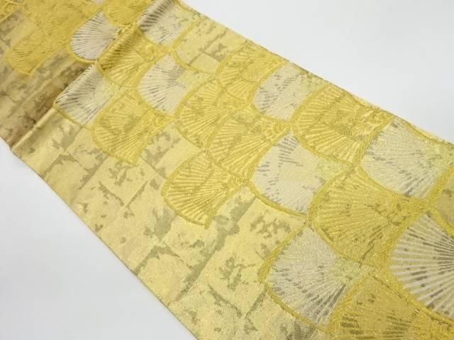 未使用品 変わり青海波模様織出し袋帯【リサイクル】【着】 宗sou