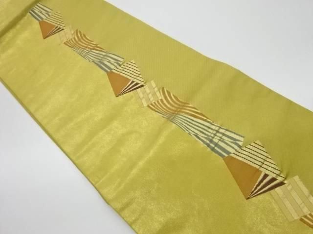 色紙に変わり縞模様織出し名古屋帯【リサイクル】【中古】【着】 宗sou