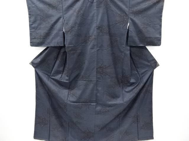 菊萩模様織り出し本場泥大島紬着物(5マルキ)【リサイクル】【中古】【着】 宗sou