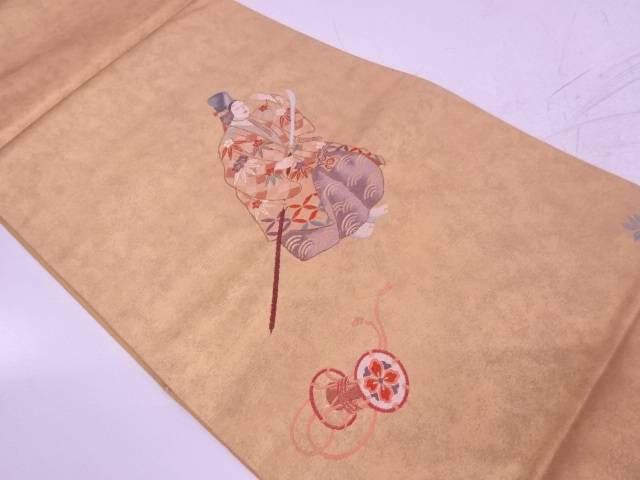 未使用品 能寿賀多 巴織出し袋帯【リサイクル】【着】 宗sou
