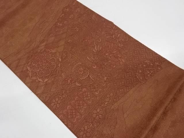 汕頭蘇州刺繍花鳥に華紋模様袋帯【リサイクル】【中古】【着】 宗sou