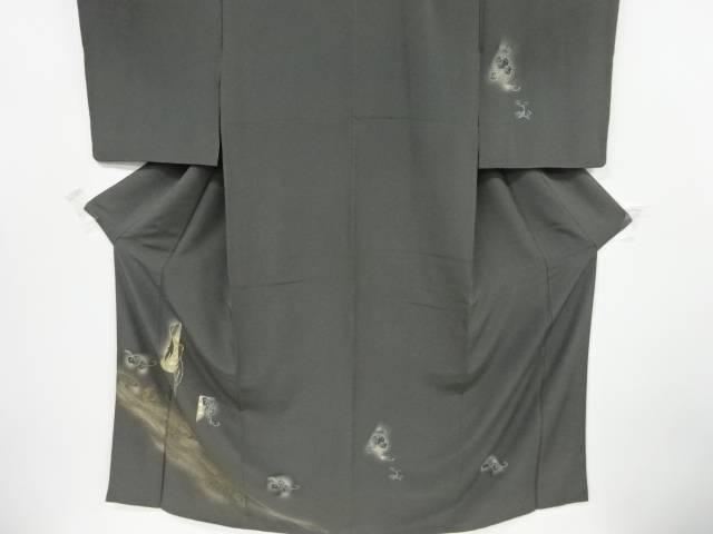 金彩流水に鶴・蔦の実模様刺繍訪問着【リサイクル】【中古】【着】 宗sou