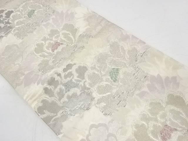 牡丹模様織出し袋帯【リサイクル】【中古】【着】 宗sou