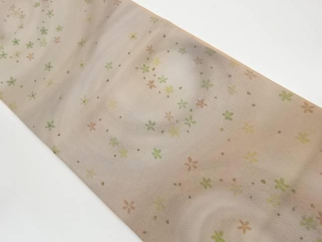 渦巻きに小花模様織出し全通洒落袋帯【リサイクル】【中古】【着】 宗sou
