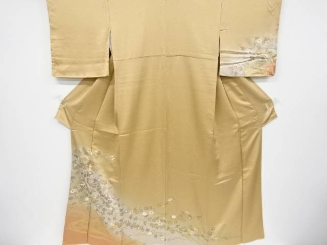 金彩流水に枝花模様訪問着【リサイクル】【中古】【着】 宗sou