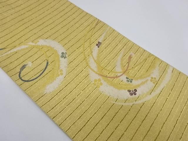 組紐に梅模様織出し袋帯【リサイクル】【中古】【着】 宗sou