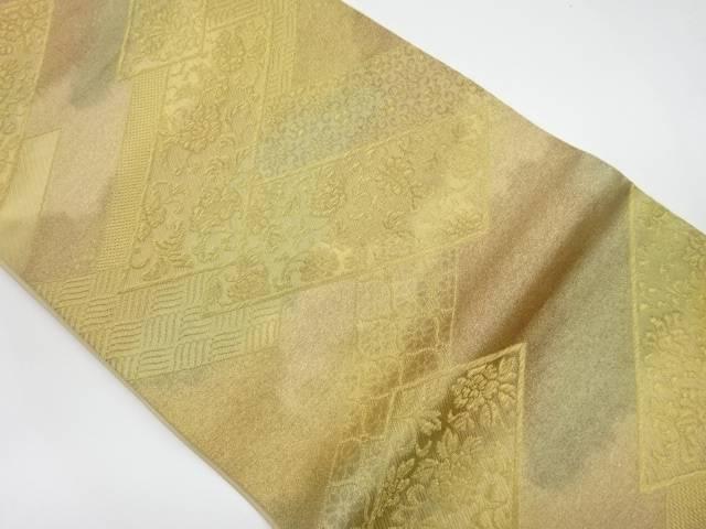 ストライプ華紋織出し袋帯【リサイクル】【中古】【着】 宗sou