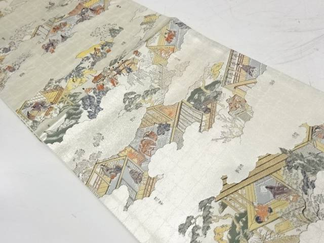 時代人物模様織出し袋帯【リサイクル】【中古】【着】 宗sou