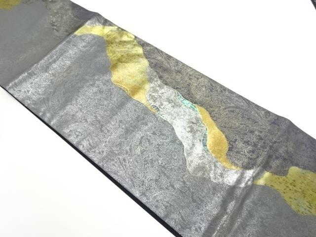 金彩螺鈿流水模様袋帯【リサイクル】【中古】【着】 宗sou