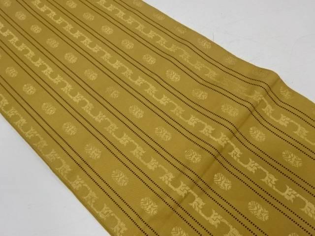 縞に抽象模様織出し袋帯【リサイクル】【中古】【着】 宗sou