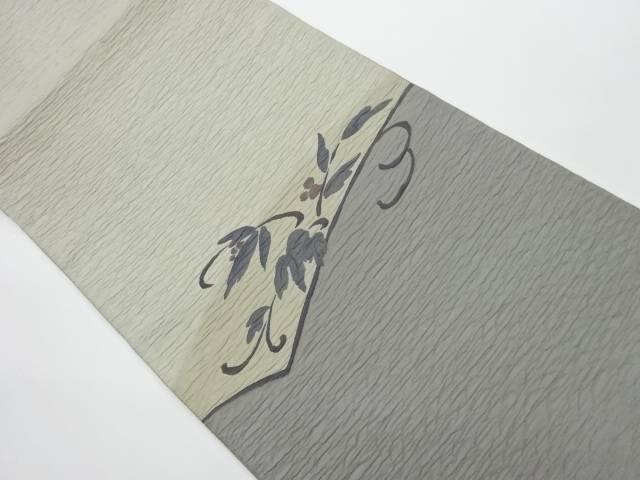 草葉模様織出し袋帯【リサイクル】【中古】【着】 宗sou