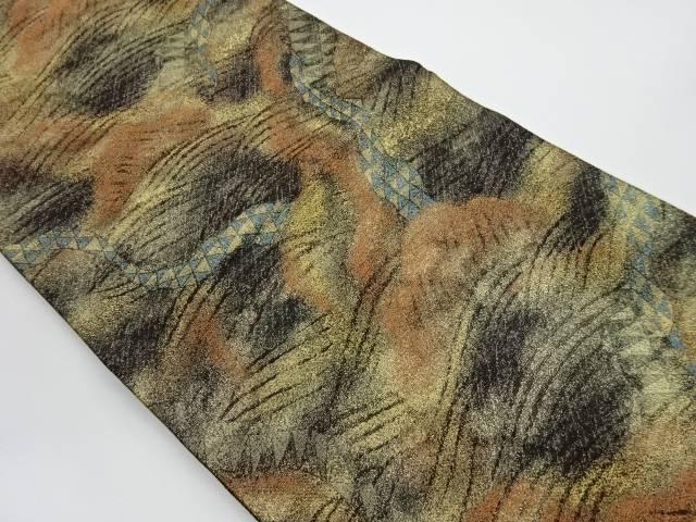 波に抽象模様織出し袋帯【リサイクル】【中古】【着】 宗sou