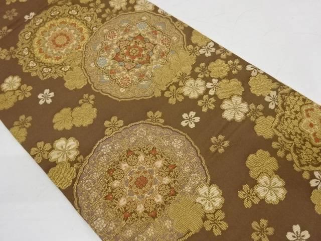 絵皿に華紋模様織出し袋帯【リサイクル】【中古】【着】 宗sou