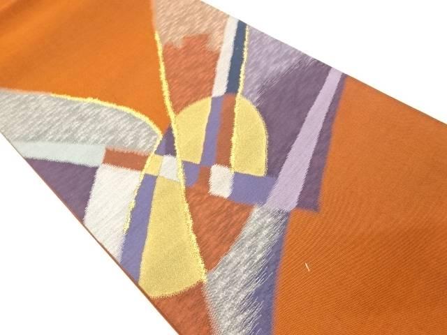 未使用品 抽象模様織出し袋帯【リサイクル】【着】 宗sou