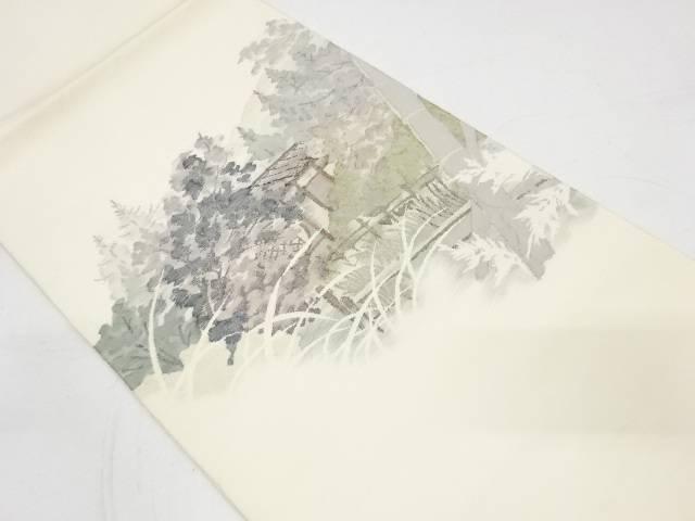 樹木風景模様織出し袋帯【リサイクル】【中古】【着】 宗sou
