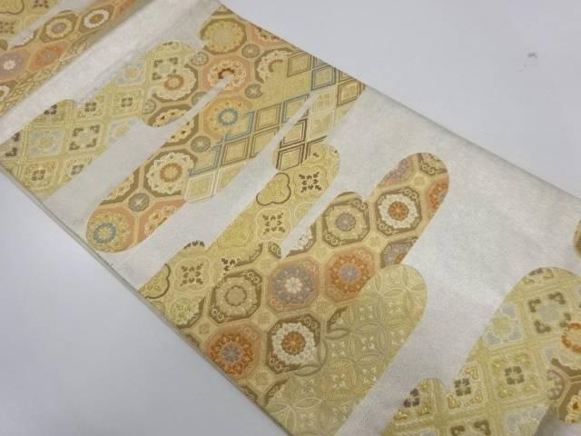 ヱ霞に華紋模様織出し袋帯【リサイクル】【中古】【着】 宗sou