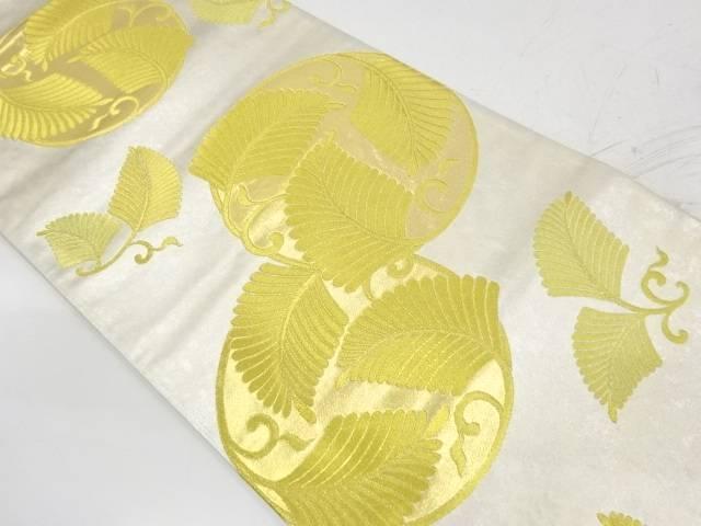 引箔若松模様織出し袋帯【リサイクル】【中古】【着】 宗sou