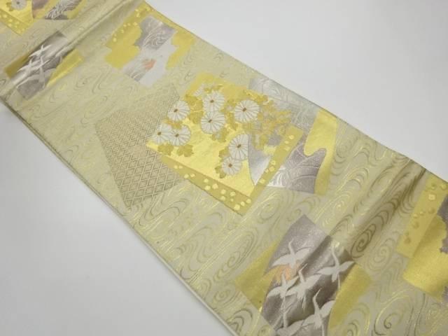 色紙散らしに花鳥模様織出し袋帯【リサイクル】【中古】【着】 宗sou