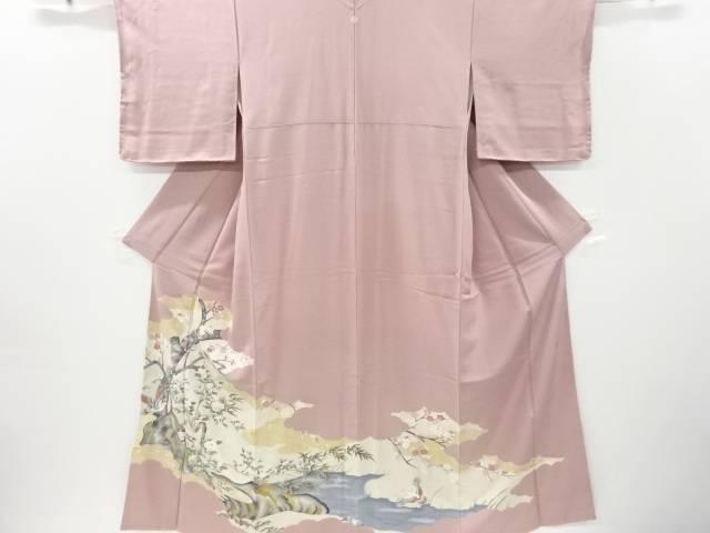 作家物 枝梅に鳥模様一つ紋色留袖【リサイクル】【中古】【着】 宗sou