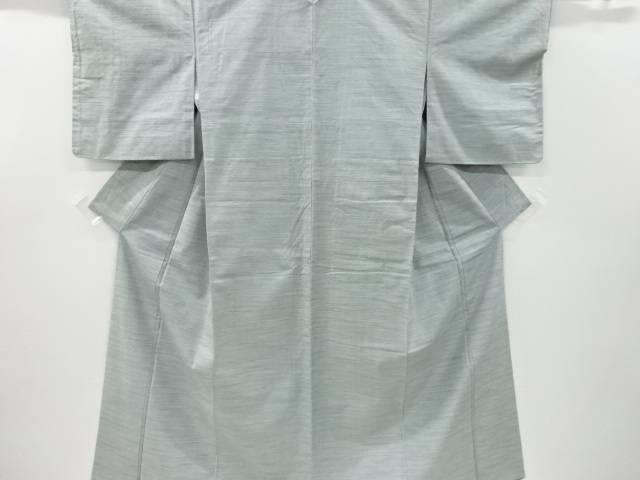 未使用品 横段に葉模様織り出し手織り紬着物【リサイクル】【着】 宗sou