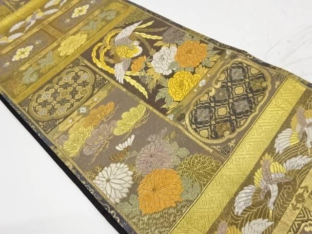 飛鳳違欄間紋織出し袋帯【リサイクル】【中古】【着】 宗sou