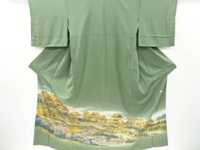 金彩伊勢平安風景模様一つ紋色留袖【リサイクル】【中古】【着】 宗sou