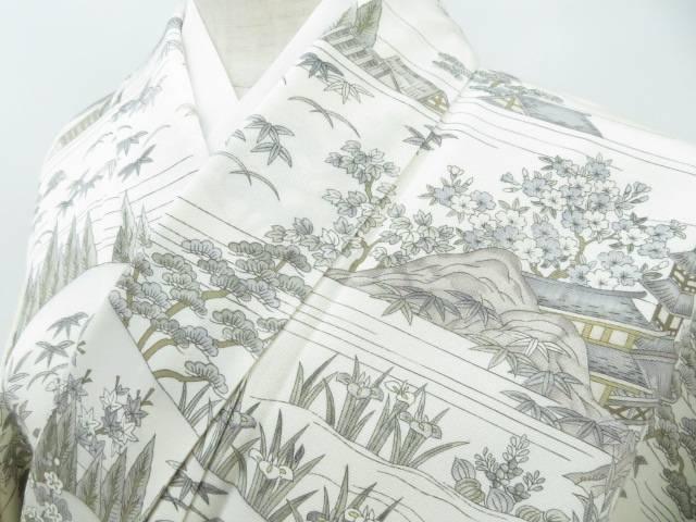 小紋 時代人物風景文 着物【リサイクル】【中古】【着】 宗sou