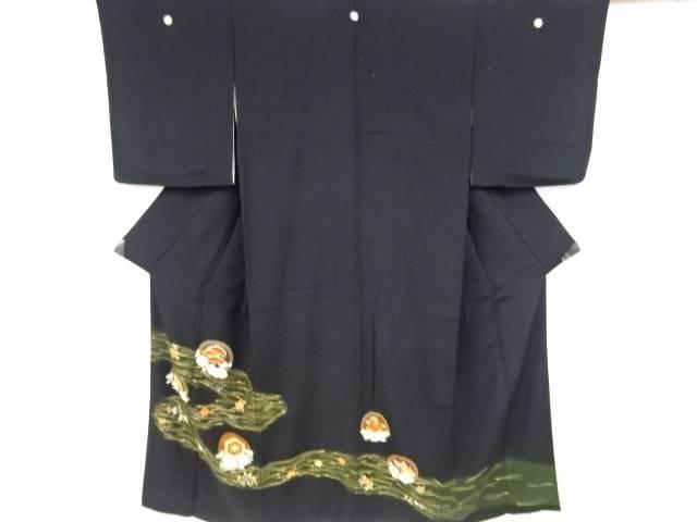 丸に松竹梅模様刺繍留袖(比翼付き)【リサイクル】【中古】【着】 宗sou