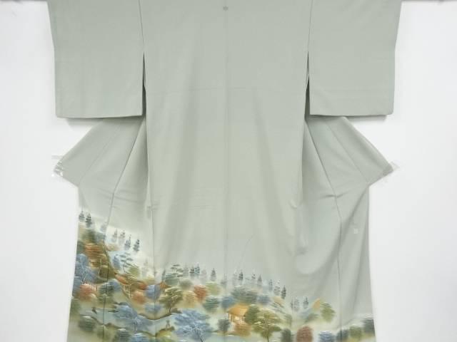 作家物 屋敷風景模様一つ紋色留袖【リサイクル】【中古】【着】 宗sou