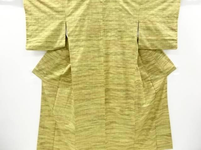 すくい織横段模様織出手織り節紬着物【リサイクル】【中古】【着】 宗sou