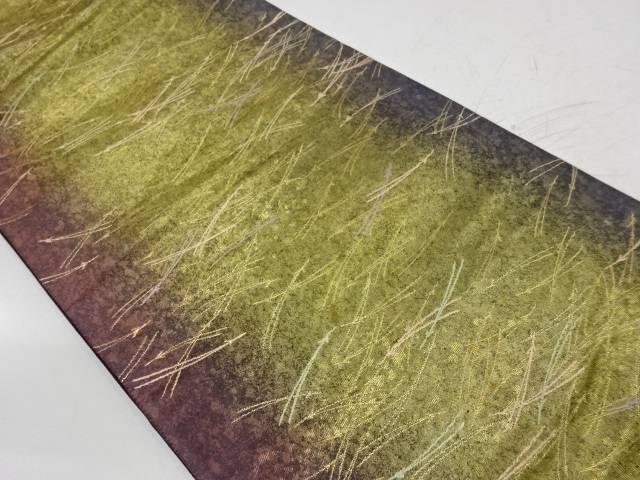 引箔松葉に色紙散らし模様織出し袋帯【リサイクル】【中古】【着】 宗sou