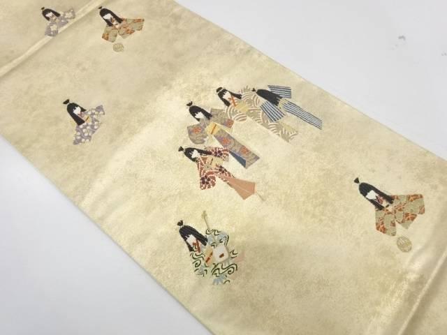 童女模様織出し袋帯【リサイクル】【中古】【着】 宗sou