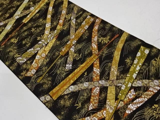 結織宝寿文織出し袋帯【リサイクル】【中古】【着】 宗sou