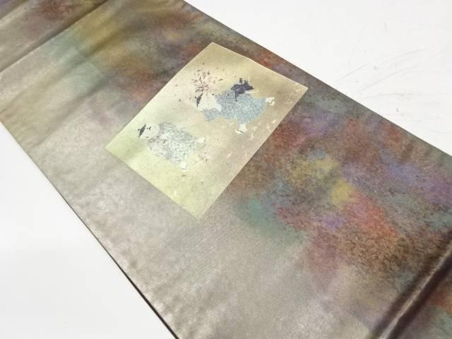 引箔色紙に童子模様袋帯【リサイクル】【中古】【着】 宗sou