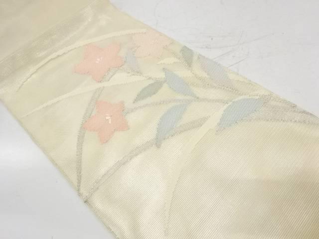 羅竜胆模様織出し袋帯【リサイクル】【中古】【着】 宗sou