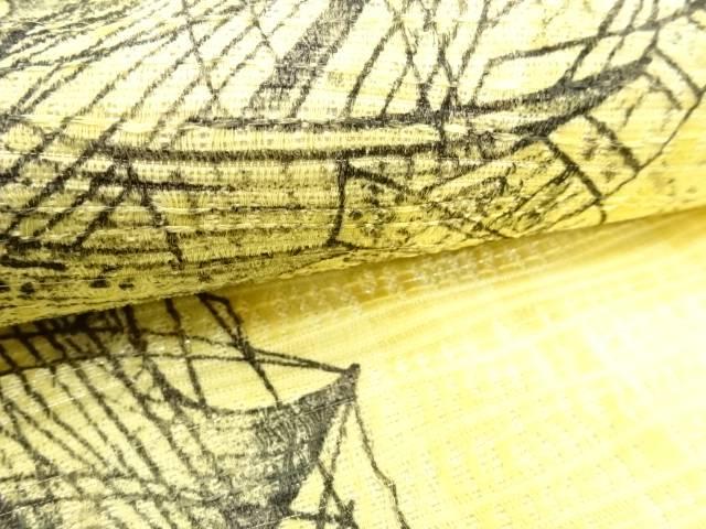 手描き帆船模様全通袋帯【リサイクル】【着】 宗sou