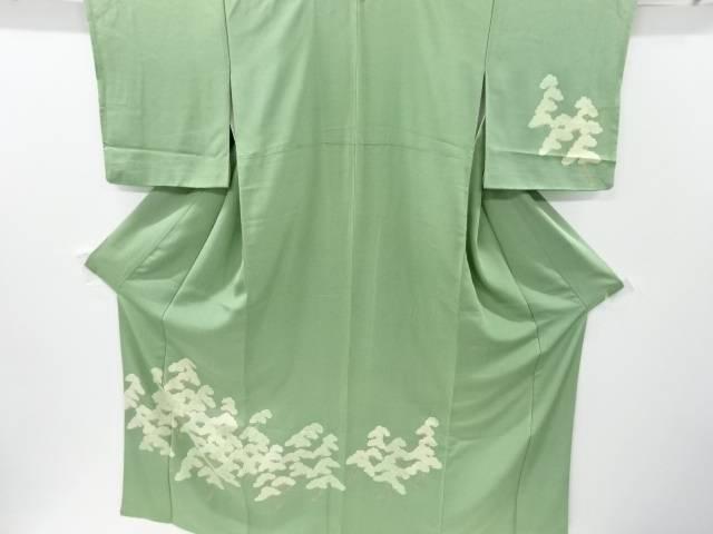 松原模様手織り紬一つ紋訪問着【リサイクル】【中古】【着】 宗sou