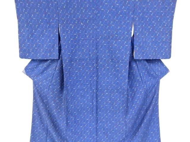 十字模様織り出し手織り真綿紬着物【リサイクル】【中古】【着】 宗sou