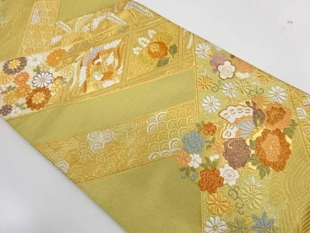 茶道具 茶道 数量は多 着物 鳳凰に草花模様織出し袋帯 リサイクル 宗sou 着 着後レビューで 送料無料 中古