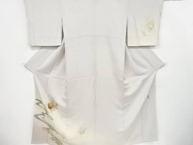 和田光正作 箔置き流水に秋草・枝梅模様着物【アンティーク】【中古】【着】 宗sou