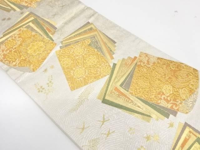 彩美色紙文織出し袋帯【リサイクル】【中古】【着】 宗sou