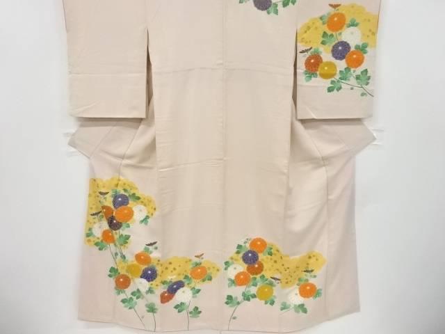 金彩雲取りに菊模様刺繍一つ紋訪問着【リサイクル】【中古】【着】 宗sou