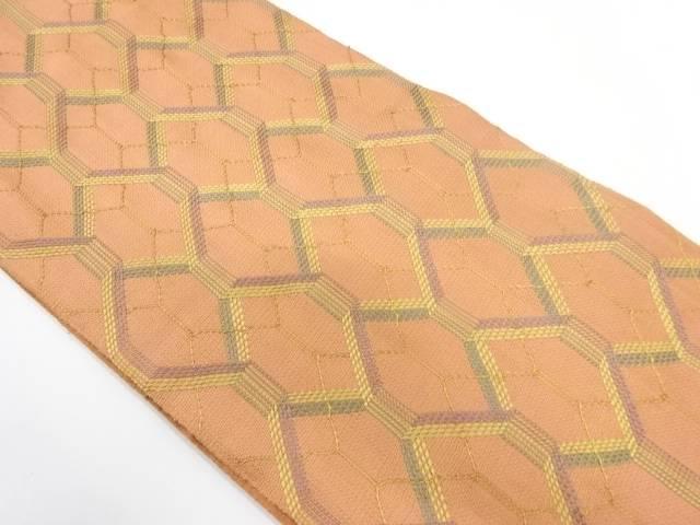 ひなや謹製 組織亀甲模様織出し袋帯【リサイクル】【中古】【着】 宗sou