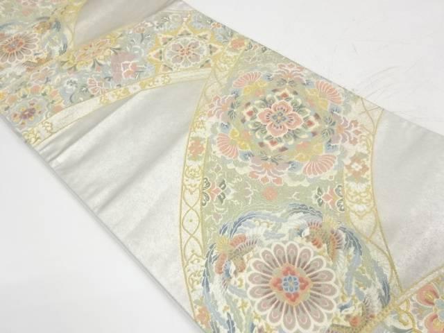 引箔華紋に花鳥模様織出し袋帯【リサイクル】【中古】【着】 宗sou