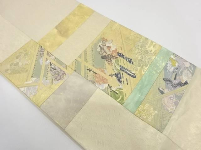 切嵌時代人物風景模様織出し袋帯【リサイクル】【中古】【着】 宗sou