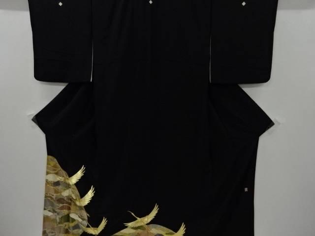 作家物 群鶴に松模様刺繍留袖(比翼付き)【リサイクル】【中古】【着】 宗sou